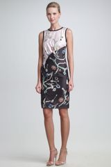 Peter Som Jewelryprint Satin Dress - Lyst