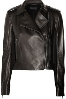 Rag & Bone Langlen Leather and Sateen Jacket - Lyst