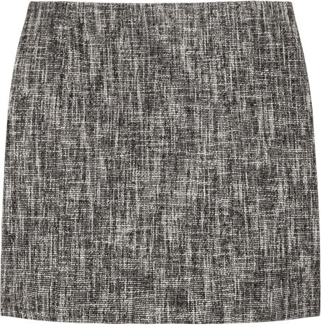 Theory Cosmita Tweed Mini Skirt in Gray (black) - Lyst