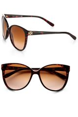 Tory Burch Vintageinspired Cateye Sunglasses in Brown (tortoise) - Lyst