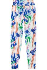Tucker Printed Silk Crepe De Chine Pants - Lyst