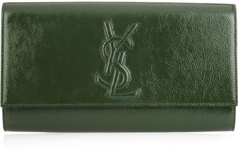Yves Saint Laurent Belle Du Jour Patent Leather Clutch - Lyst