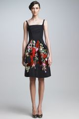 Zac Posen Embroidered Cocktail Dress - Lyst