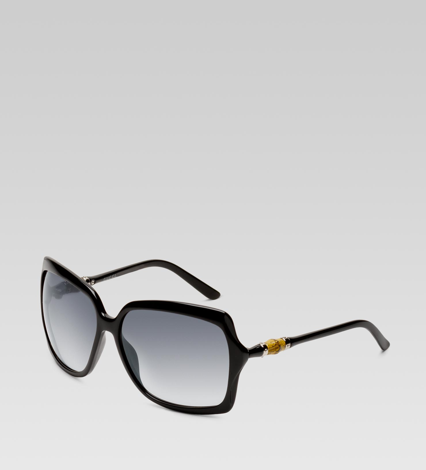 d8151e92165 Gucci Medium Square Frame Sunglasses with Bamboo Detail On Temple in ...
