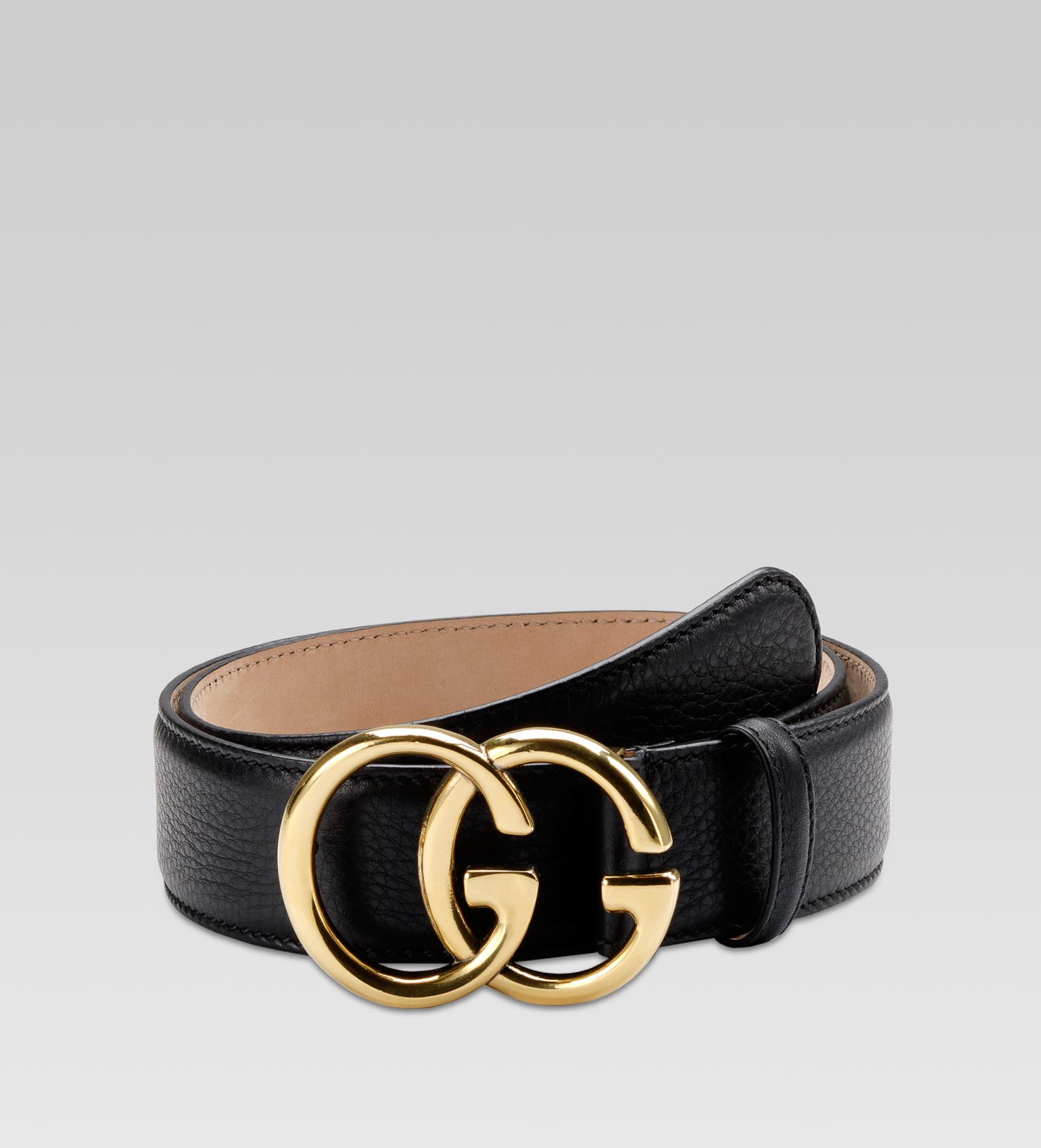 gucci belt with double g buckle in black lyst