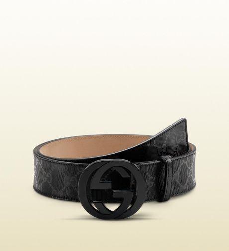 gucci belt with interlocking g buckle in black lyst