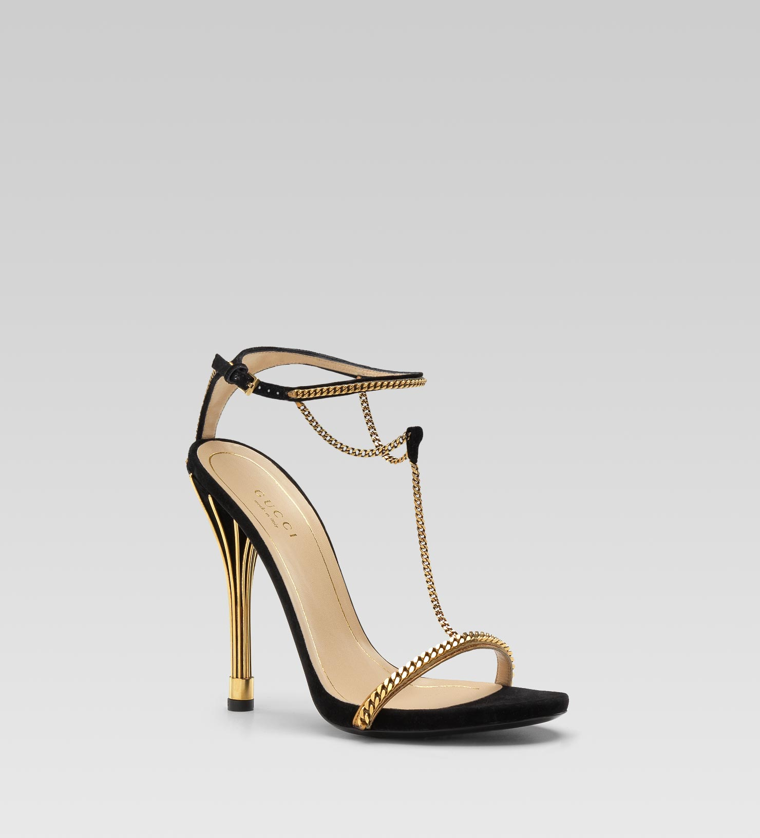 Gucci Shoes Gold Heel
