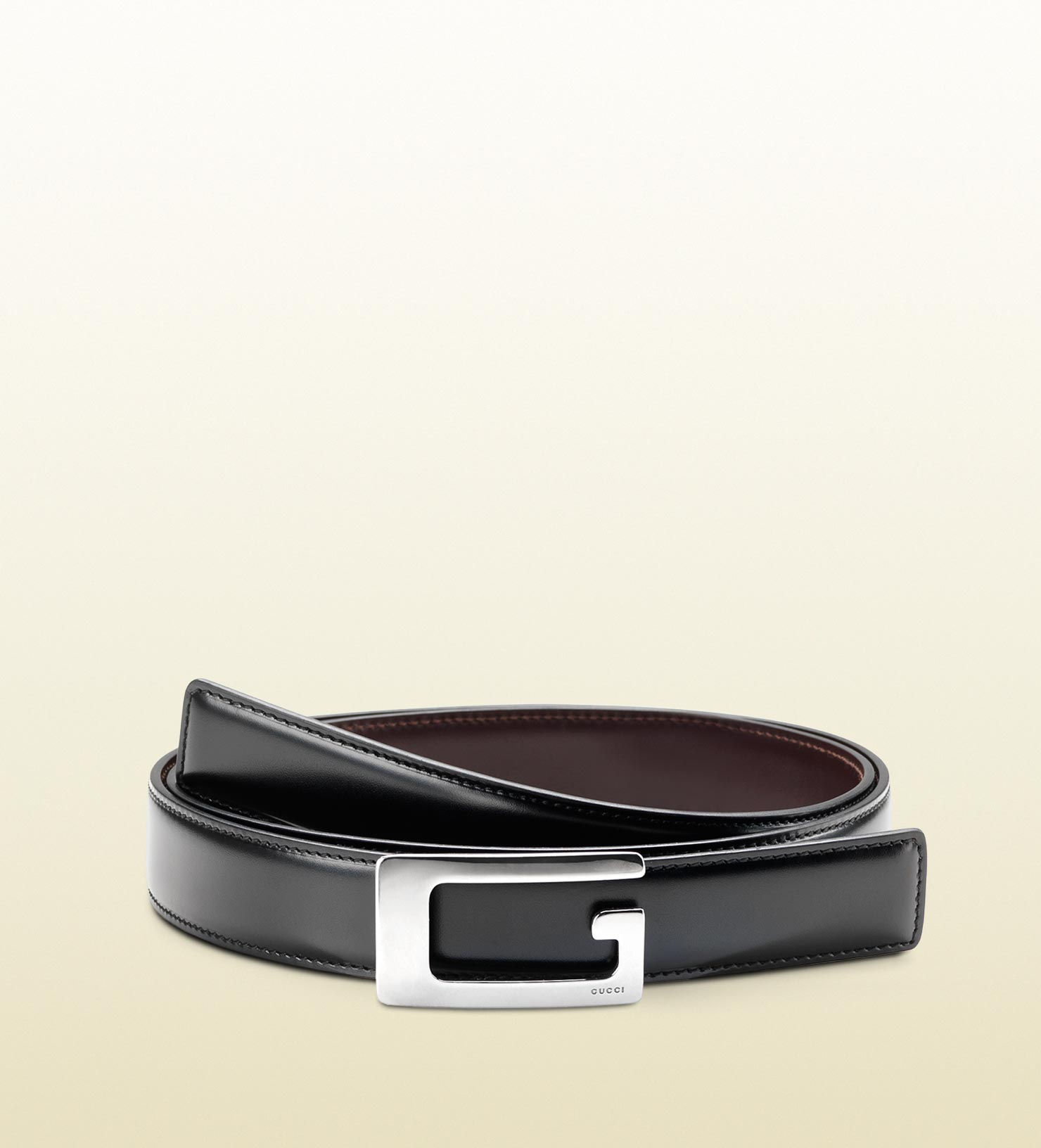 8e4faf9cb Gucci Reversible Leather Belt With Rectangular G Buckle in Black for ...