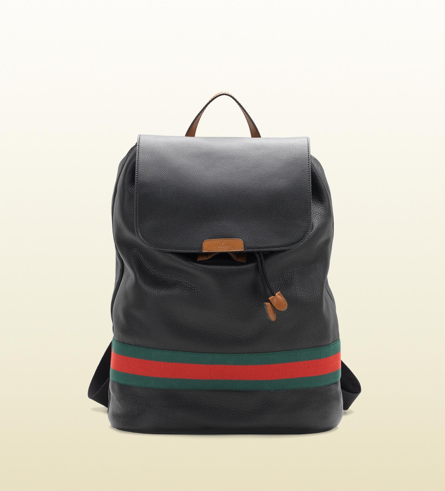 Gucci Signature Web Backpack In Black For Men Lyst