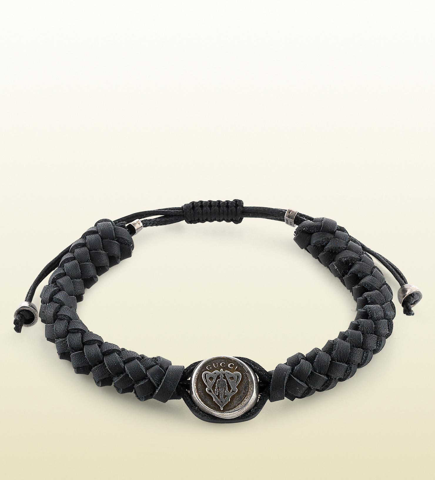 gucci wrap leather bracelet for in black for lyst
