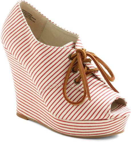 Modcloth Summer Birthday Wedge in White - Lyst