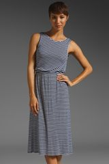Rachel Pally Rib Grayson Dress in Blue (navy stripe) - Lyst