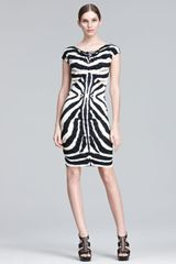 Roberto Cavalli Zebra print Sheath Dress - Lyst