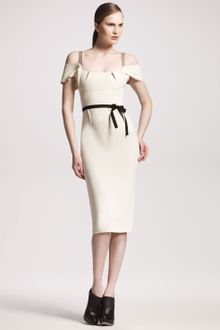 Roland Mouret Herbert Stretch-crepe Dress Winter White - Lyst