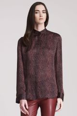 The Row Silk Print Blouse with Draped Back - Lyst