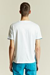 Balenciaga Balenciaga Mens Double Panel Tee in White for Men (teal) - Lyst
