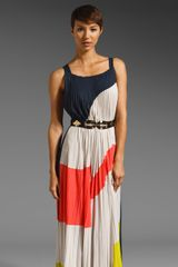 BCBGMAXAZRIA Runway Printed Maxi Dress - Lyst