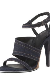 Bottega Veneta Asymmetric Wedge-detail Sandal - Lyst