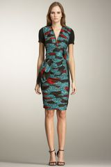 Burberry Prorsum Printed Inset Dress - Lyst