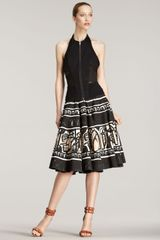 Donna Karan New York Maskprint Aline Skirt - Lyst