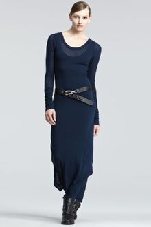 Donna Karan New York Melange Jersey Maxi Dress - Lyst