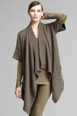 Donna Karan New York Draped Open Cardigan - Lyst
