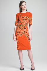 Erdem Floral Print Crepe Dress - Lyst