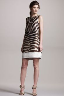Giambattista Valli Zebra-print Shift Dress - Lyst