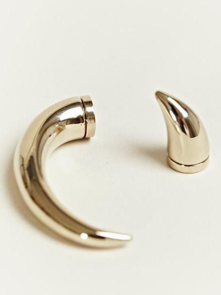 Simple Silver Pearl Heart Crystal Ear Stud Clip On Drop Magnetic Earrings Women Girl