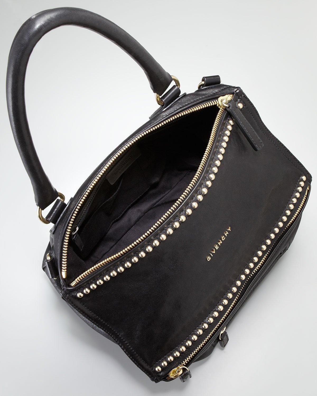 3bb25413385a Lyst - Givenchy Studded Pandora Shoulder Bag in Black