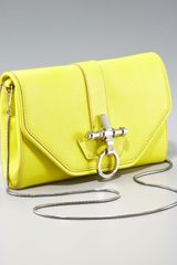 Givenchy Obsedia Chain Clutch, Bright Yellow - Lyst