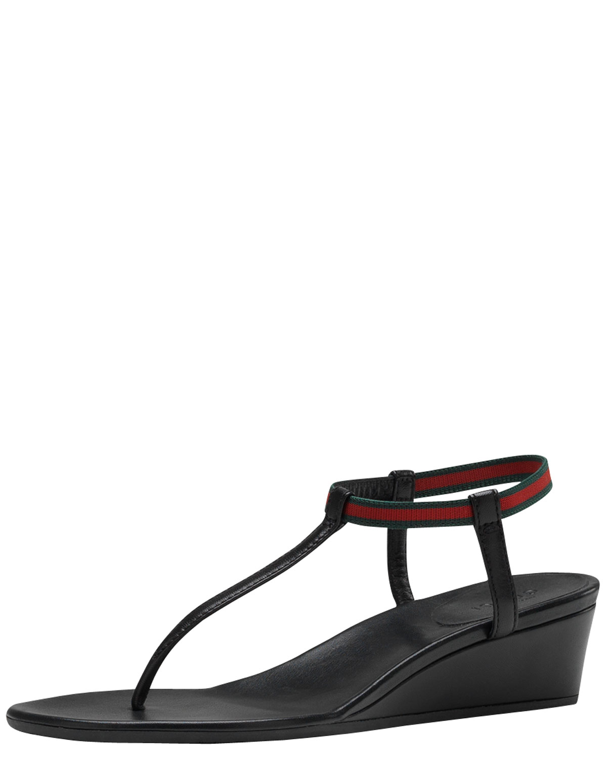 d63f1b490d29 Lyst - Gucci Areia Thong Wedge Sandal in Black