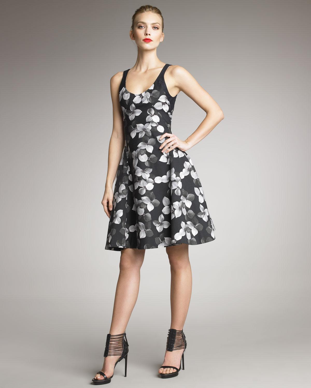 Sale Shop floral flared dress - Black Jason Wu Grey Cheap Original uNhx9c9pO