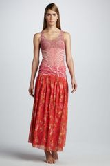 Jean Paul Gaultier Mixedprint Skirt Coverup in Red (pink/red combo) - Lyst