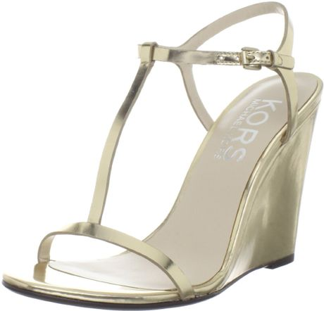 Kors By Michael Kors Kors Michael Kors Womens Ruby Wedge Sandal in Gold - Lyst
