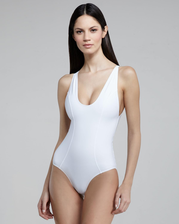 Lisa marie fernandez Garance Back-zip One-piece Swimsuit ...