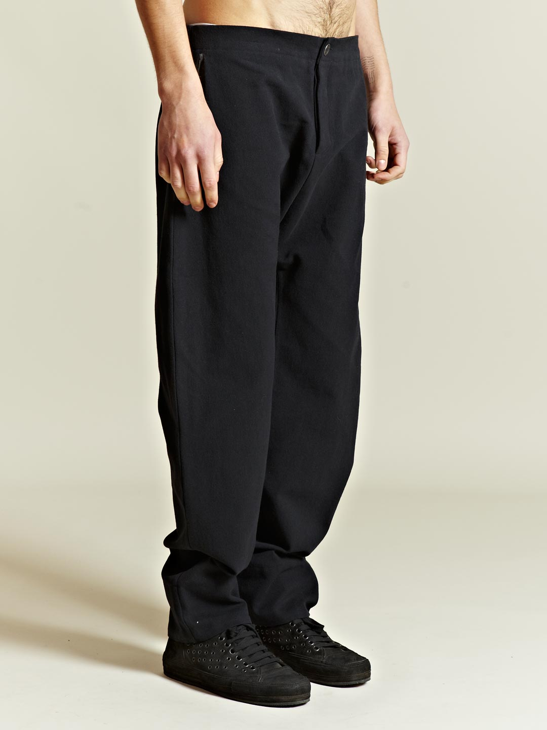 Dropsnatch Blue Black Marble: Marvielab Marvielab Mens Drop Crotch Pants In Black For