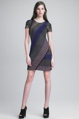 Missoni Zigzag Contrast Dress - Lyst