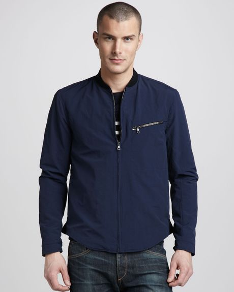 Rag & Bone Nylonblend Track Jacket in Blue for Men (midnight) - Lyst