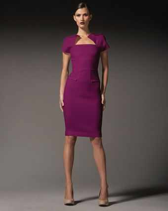 RM By Roland Mouret Myrtha Folded Sheath Dress - Lyst