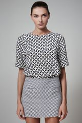 Stella McCartney Diamondprint Miniskirt - Lyst