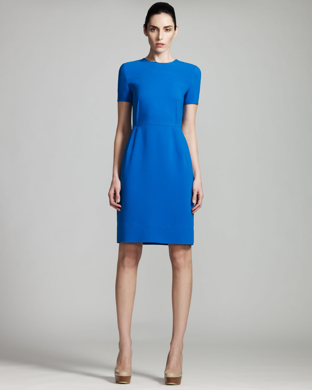 Stella mccartney Short Sleeve Dress in Blue - Lyst