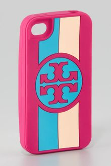 Tory Burch Roslyn Logo Striped Iphone 4 Case - Lyst