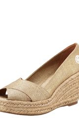 Tory Burch Crisscross Wedge Espadrille - Lyst