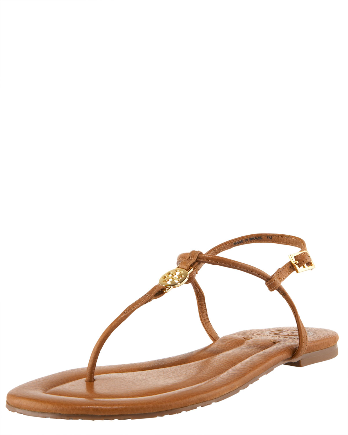 e9c7b4977 ... good lyst tory burch emmy logo thong sandal in brown 51611 e6113 ...