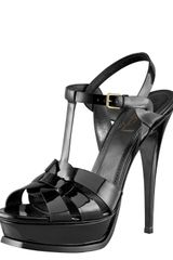 Yves Saint Laurent Tribute Platform Sandal - Lyst