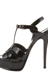 Yves Saint Laurent Tribute Sandal in Black - Lyst