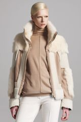 Chloé Reversible Patchwork Fur Jacket in Beige (off white) - Lyst