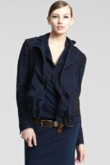 Donna Karan New York Womens Stretch denim Jacket - Lyst