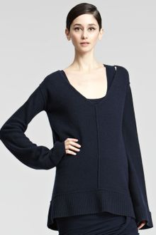Donna Karan New York Oversized Vneck Tunic - Lyst